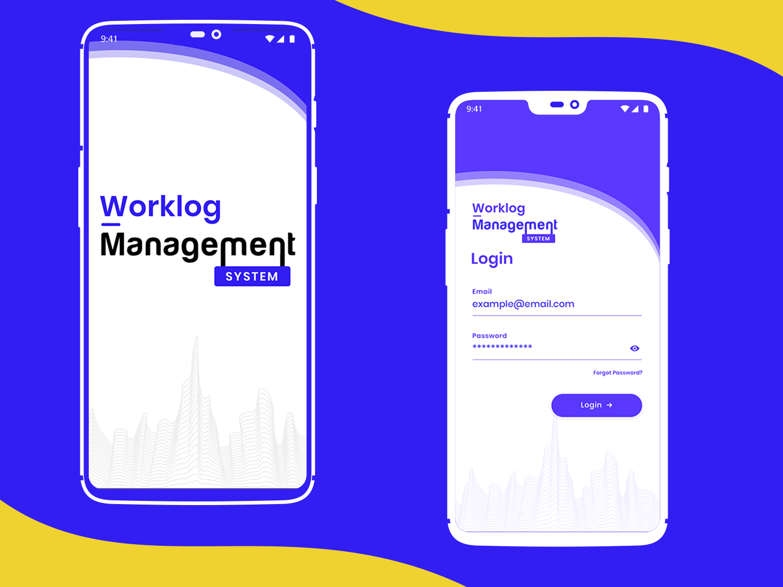 Mobile app design of Worklog Management idea graphics branding ux ui iteration design mobile app design creative