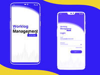 Mobile app design of Worklog Management
