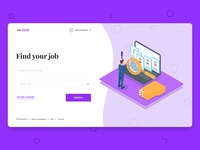 Job search: Landing page