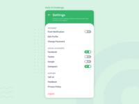 Daily UI Challenge - Setting screen