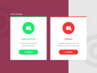 Daily UI Challenge - Flash Messages