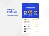 Daily UI Challenge - Leaderboard Design