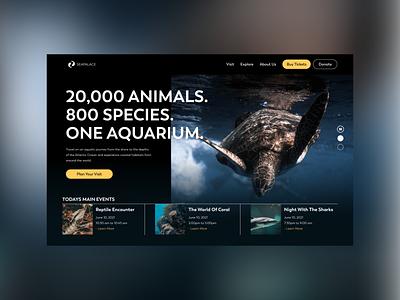 SeaPalace ux ui website aquarium landing page web branding design