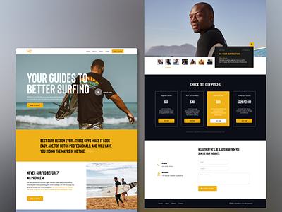 HomeSpun full figma webdesign web small business surf branding ui design