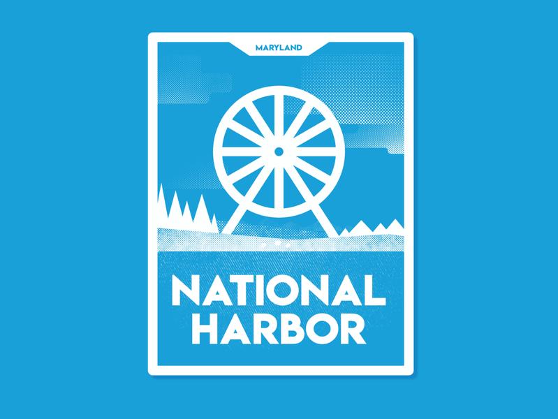 National Harbor V1 monoline minimalist affinity designer vector badge sticker