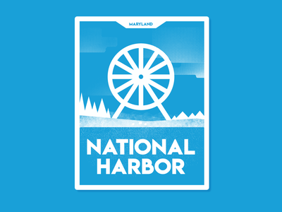 National Harbor V1 monoline minimalist affinity designer vector badge sticker