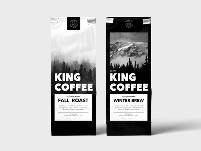 Kings Coffee branding illustration affinity vector design