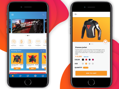Motorcycle products shopping app mobile design ecommerce ios app ecommerce product page design app shopping iphone product ui