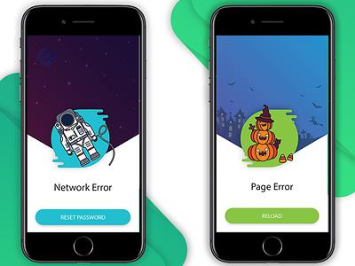 Alert screens mobile error mobile application notifications design flat graphic interface user iphone ui