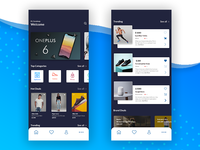 E-commerce App home page
