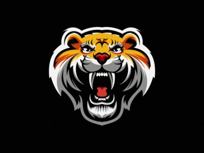 tiger logo design illustration esport icon illustration branding tshirt art mark identity design logo