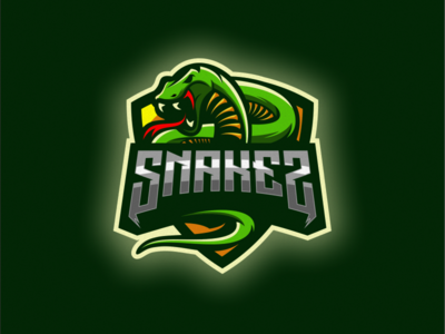 Snake logo design esport icon illustration branding tshirt art mark identity design logo