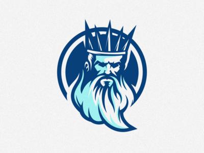 neptune logo design vector esport icon illustration branding tshirt art mark identity design logo