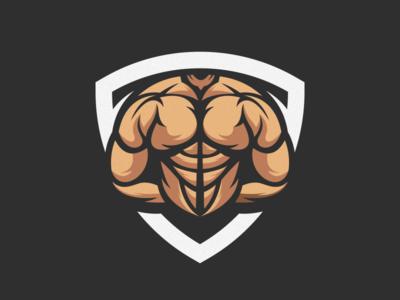 muscle logo design gym esport icon illustration branding tshirt art mark identity design logo