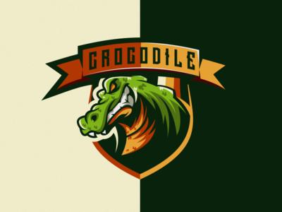 crocodile logo design crocodile esport icon illustration branding tshirt art mark identity design logo