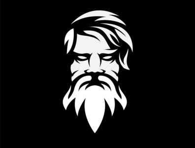 beard logo design esport icon illustration branding tshirt art mark identity design logo