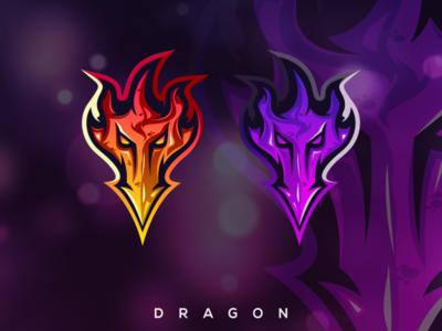 dragon logo design premium dragon dragons esport icon illustration branding tshirt art mark identity design logo