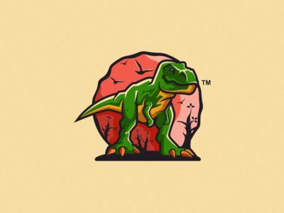 t-rex logo design vector esport icon illustration branding tshirt art mark identity design logo