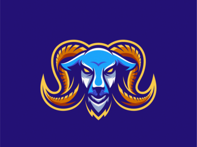 goat logo design goat logo goat vector esport icon illustration branding tshirt art mark identity design logo