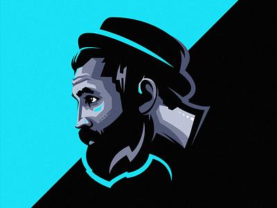 men beard logo logodesigns logos men esport icon illustration branding tshirt art mark identity design logo
