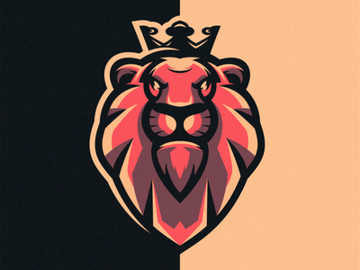 lion king vector esport icon illustration branding tshirt art mark identity logo design