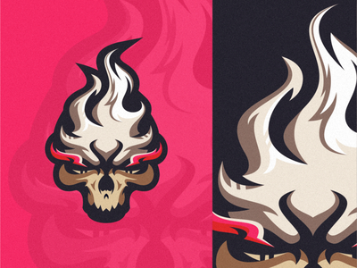 fire skull logo skull logo skull fire e-sports vector gamers esport icon illustration branding tshirt art mark identity design logo