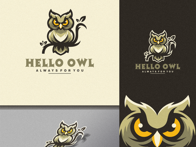 owl logo design owl icon owl esport icon illustration branding tshirt art mark identity design logo
