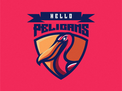 PELICAN LOGO pelican vector esport icon illustration branding tshirt art mark identity design logo