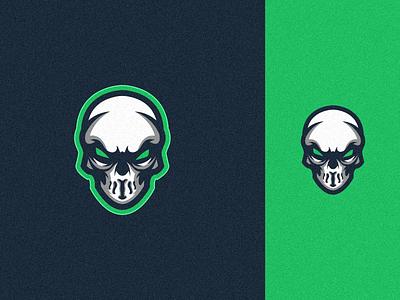 skull logo ui branding tshirt mark identity game sport illustration design art club team vector skull logo