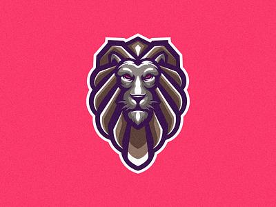 lion logo king lion vector ui illustration branding tshirt art mark identity design logo