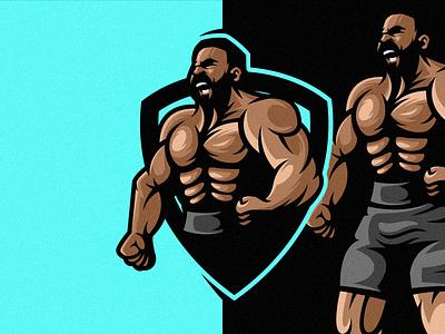 Muscle Logo vector tshirt illustration motion graphics branding graphic design art mark identity design logo sport logo esport sport designgym logologos muscle logo muscle