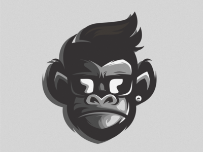 gorilla logo illustration