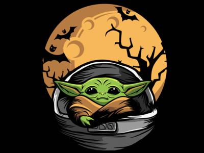 baby yoda logo illustration