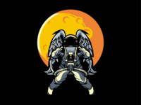 astronaut logo design illustration
