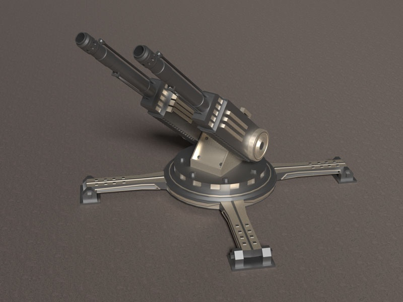 Sci Fi Cannon - Weapon - 3d Model by Arun on Dribbble