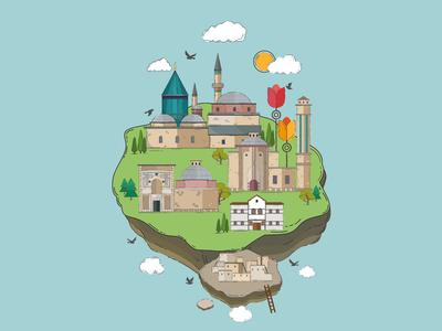 Konya City Illustration 1