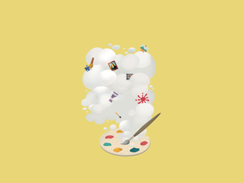 Art Student Items type graphicdesigner branding character illustrator app website firstshot typography logo animation icon dribble minimal design flat vector graphicdesign coloful illustration