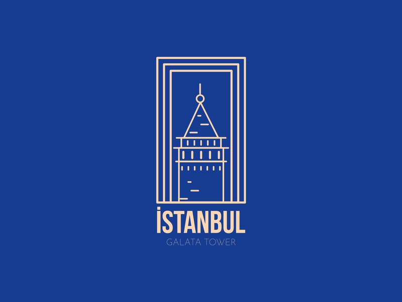 Hometown,İstanbul dribbleinvite like player rebound firstshot design vector coloful dribbleartist sticker city dribble weekly istanbul illustration