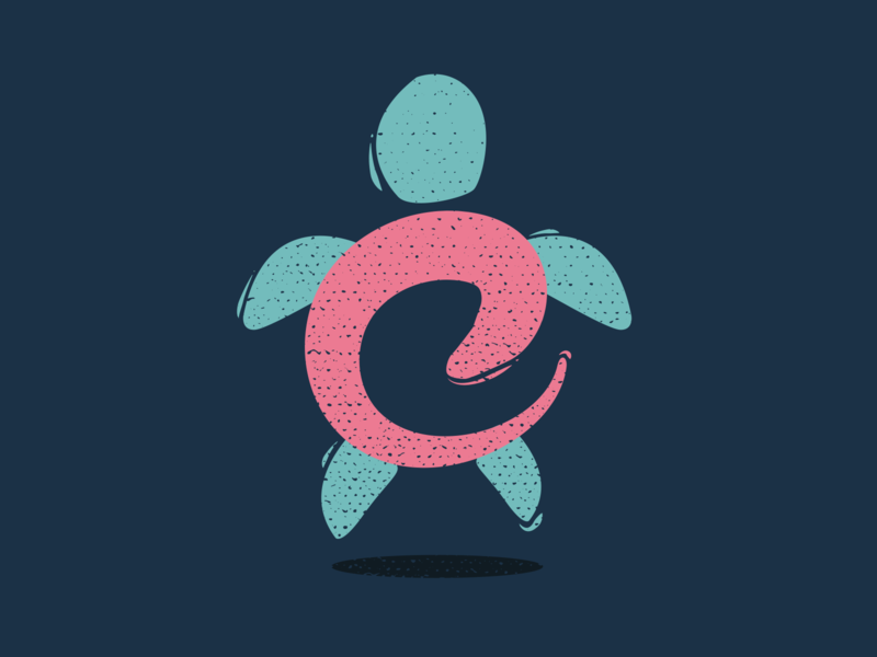 Design an Icon for Your Favorite Animal, Turtle design dribble vector illustrator typography coloful weekly challenge rebound turtle flat illustration weeklywarmup