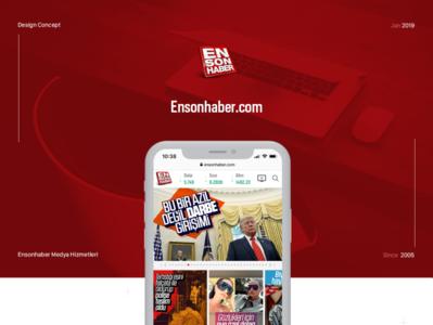 Ensonhaber.com, News App Design 2019 branding typography coloful dribble graphicdesign flat adobexd userinterface appdesign newsapp ui design ux ui