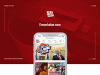 Ensonhaber.com, News App Design 2019