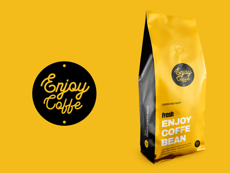 Enjoy Coffe, Dirbbble Weekly Warm-Up design graphicdesign dribble flat coloful vector firstshot illustration package design branding beverage coffee