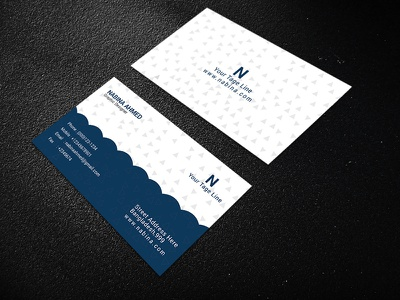 Business Card standard simple modern creative corporate card business design both awesome attractive