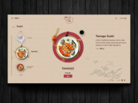 Japan food website concept