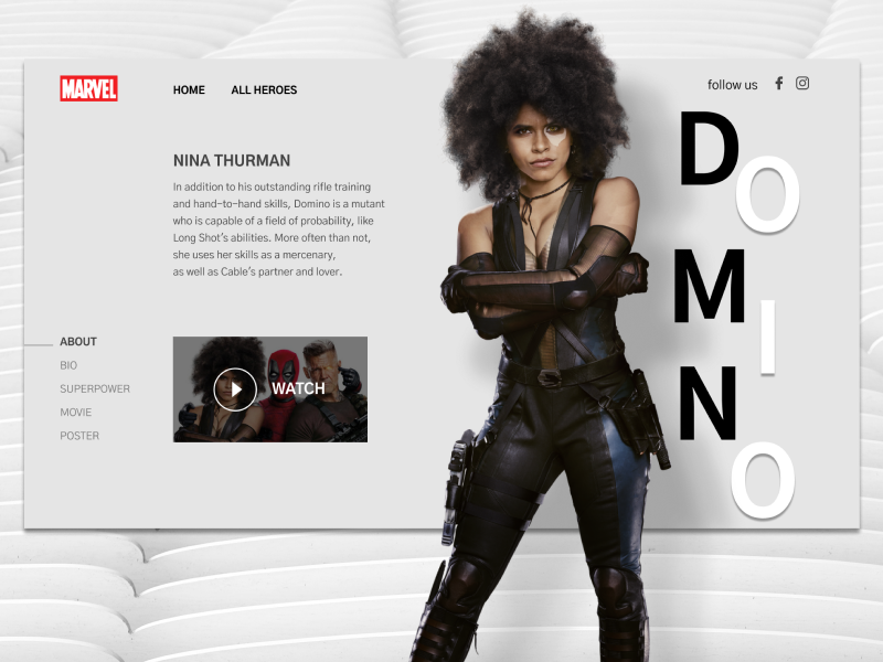 Domino. Concept light web webdesign design ui