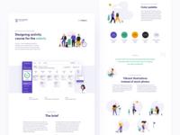Online Activity Course - Design for Seniors minimal netguru wcag branding seniors app web design dashboard tracker illustration ux ui accessible accessibility case study