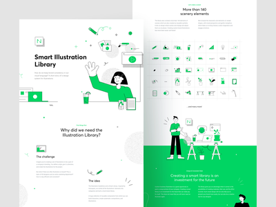 Smart Illustration Library brand illustration smart library presentation ui brand design case study behance project design systems design system illustration