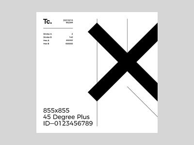 Tc. ——— 45 Degree Plus: 20210210 / 852AM positive space lines typography graphic graphicdesign design visual visualdesign ux ui uiux