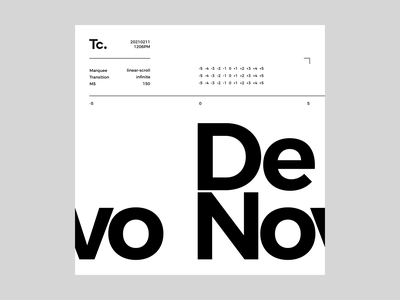 Tc. ——— De Novo: 20210211 / 1206PM negative positive space lines typography graphic graphicdesign design visual layout ux ui uiux