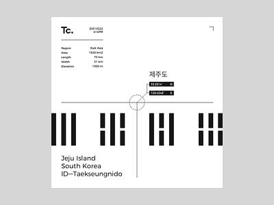 Tc. ——— Jeju Island, South Korea: 20210211 / 414PM graphicdesign negative positive space lines typography design graphic visual visualdesign layout ux ui uiux